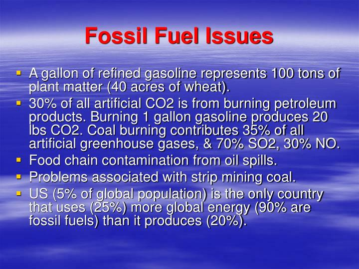 Fossil Fuel Issues