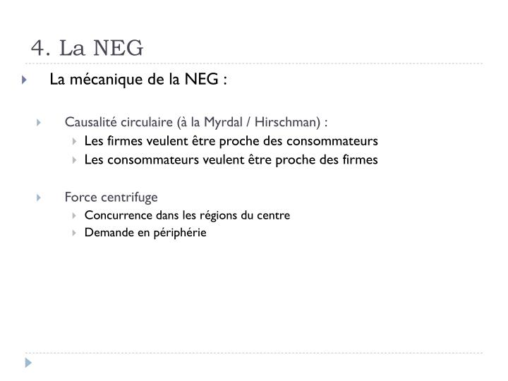 4. La NEG