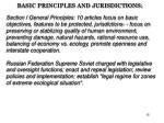 basic principles and jurisdictions