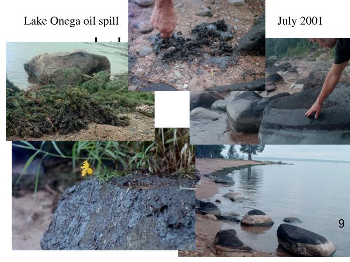 Lake Onega Spill