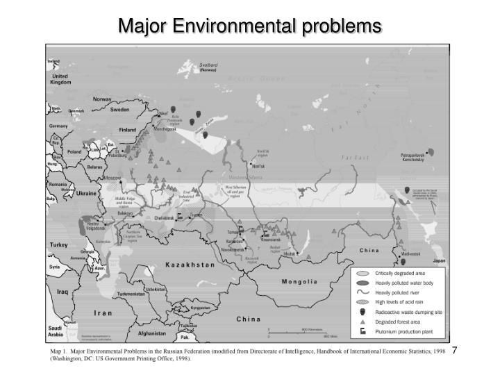 Major Environmental problems