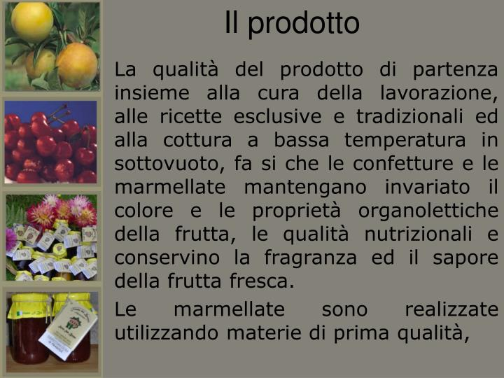 Il prodotto