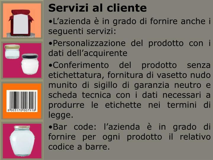 Servizi al cliente