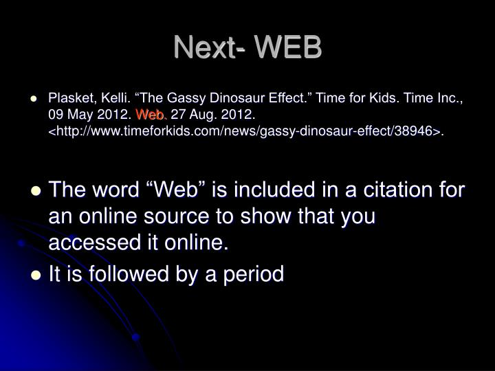 Next- WEB