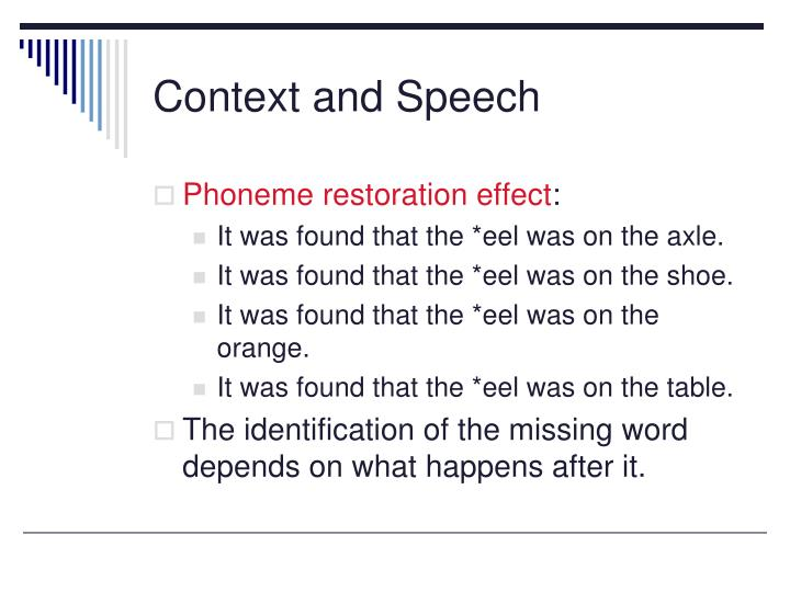 Context and Speech