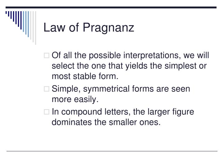 Law of Pragnanz
