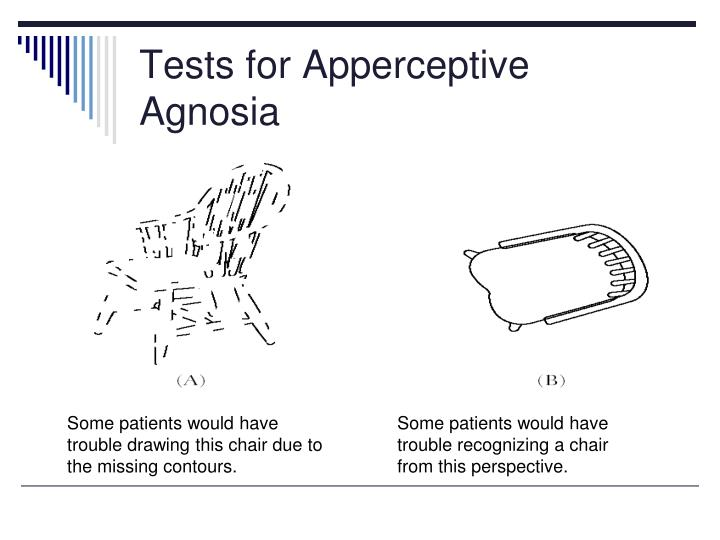 Tests for Apperceptive Agnosia