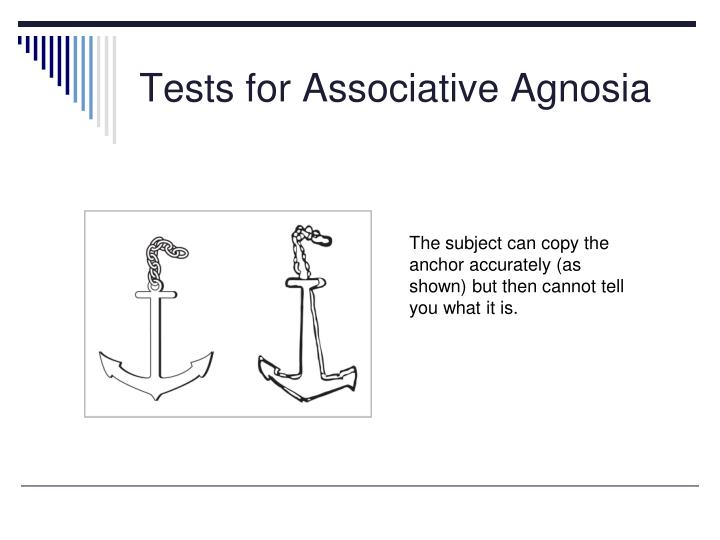 Tests for Associative Agnosia