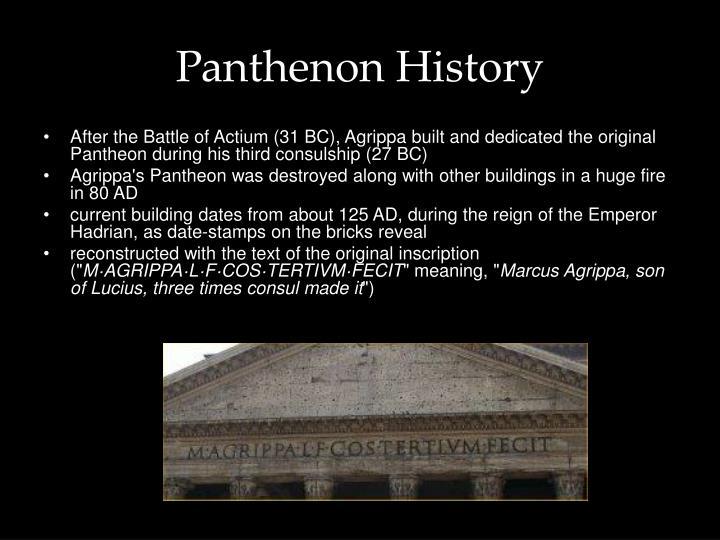 Panthenon History