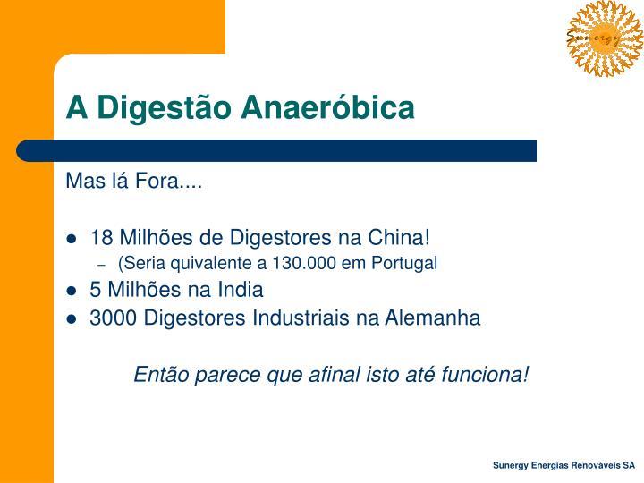 A Digestão Anaeróbica