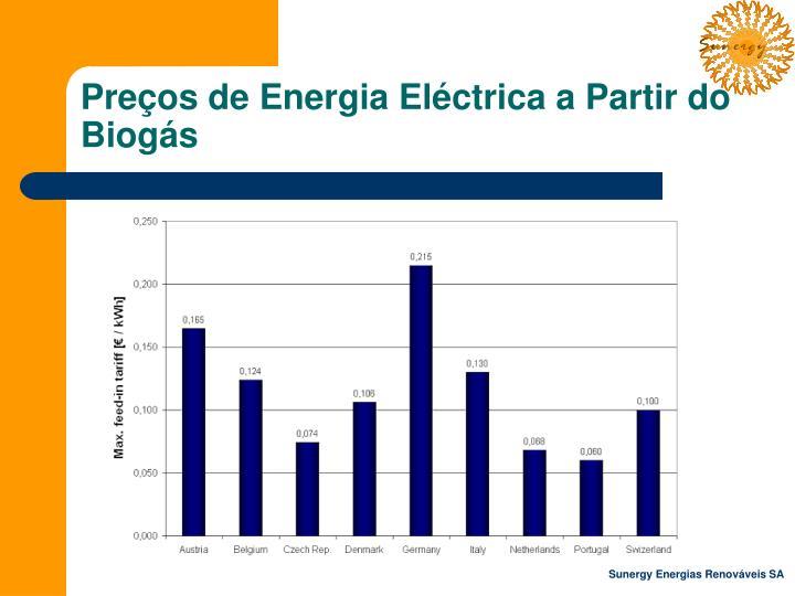 Preços de Energia Eléctrica a Partir do Biogás
