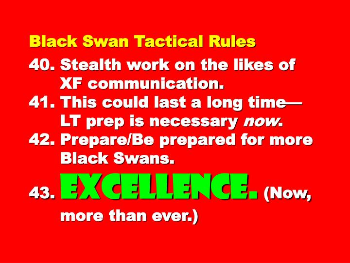 Black Swan Tactical Rules
