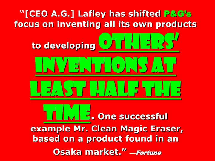 """""""[CEO A.G.] Lafley has shifted"""