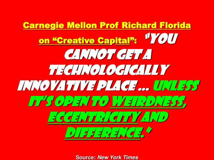 "Carnegie Mellon Prof Richard Florida on ""Creative Ca"