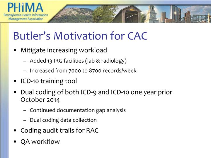 Butler's Motivation for CAC