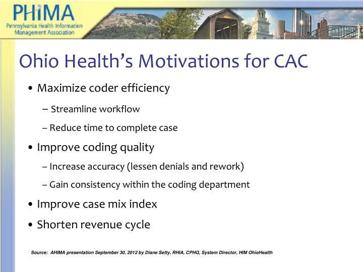 Ohio Health's Motivations for CAC