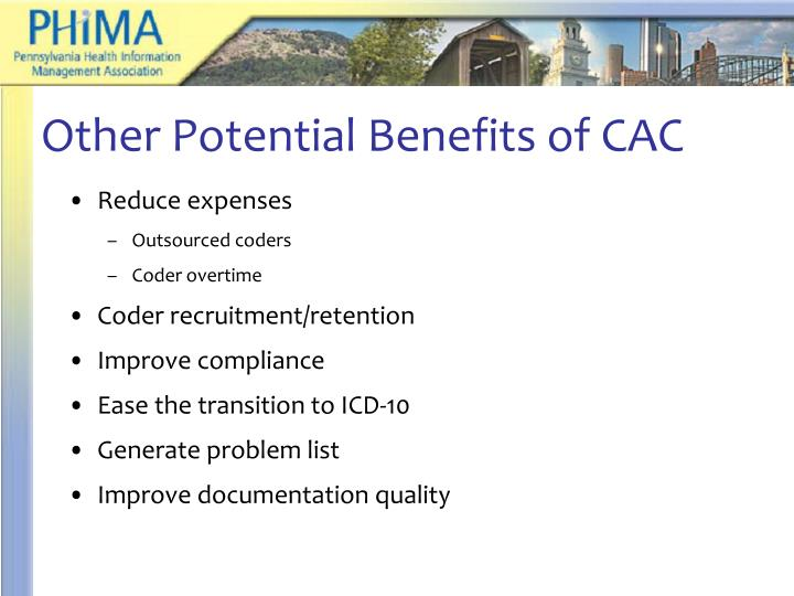 Other Potential Benefits of CAC