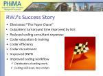 rwj s success story