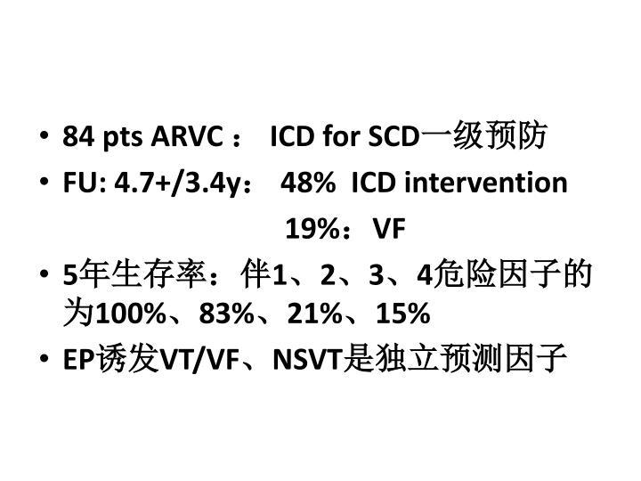 84 pts ARVC