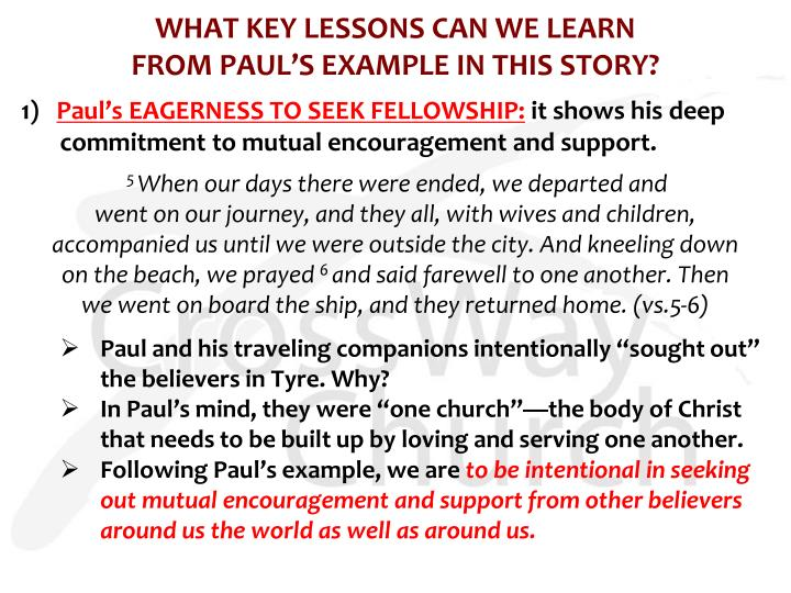WHAT KEY LESSONS CAN WE LEARN
