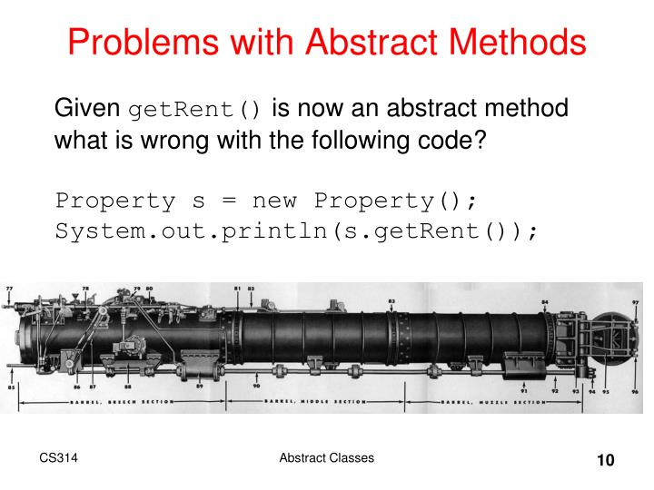 Problems with Abstract Methods