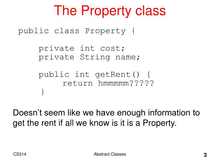 The property class