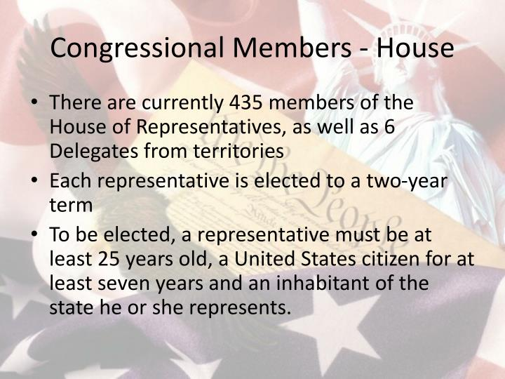 Congressional Members - House