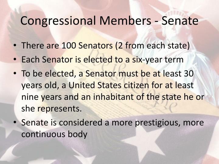 Congressional Members - Senate