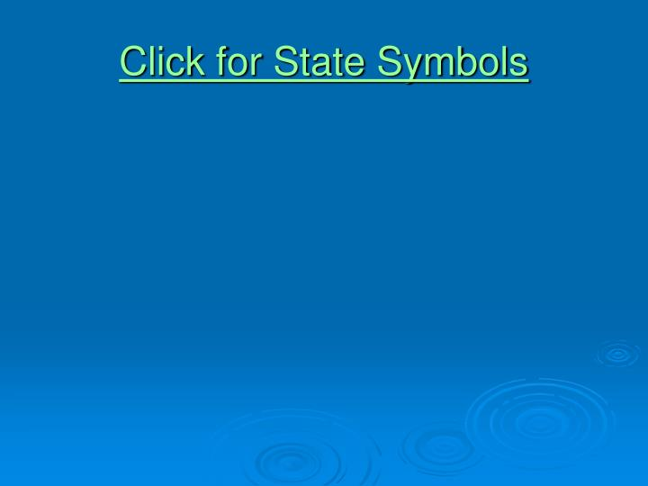 Click for State Symbols
