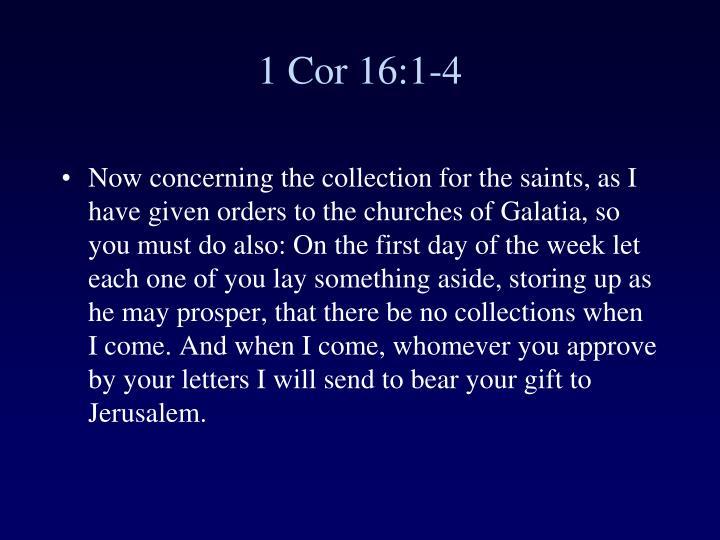 1 Cor 16:1-4