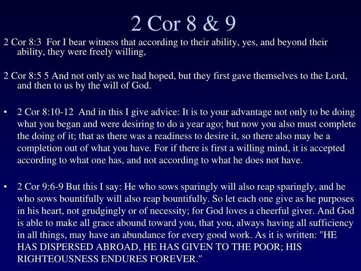 2 Cor 8 & 9