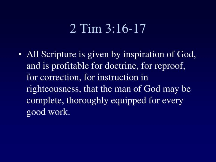 2 Tim 3:16-17