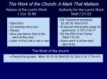 the work of the church a mark that matters13