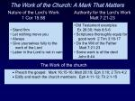 the work of the church a mark that matters14