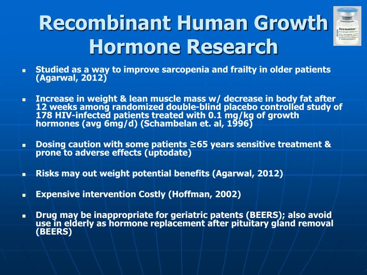 Human growth hormone for muscle wasting