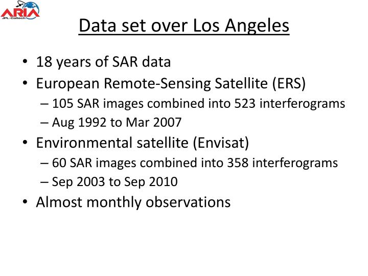 Data set over Los Angeles