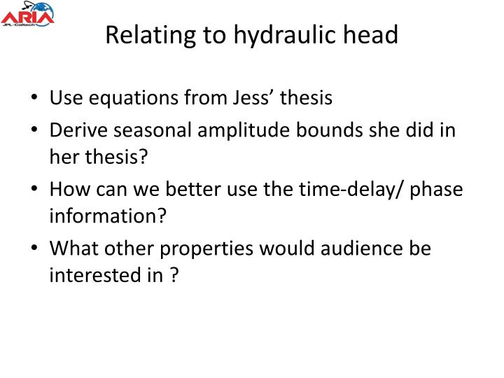 Relating to hydraulic head
