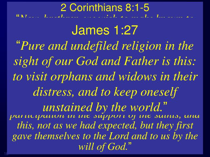 2 Corinthians 8:1-5