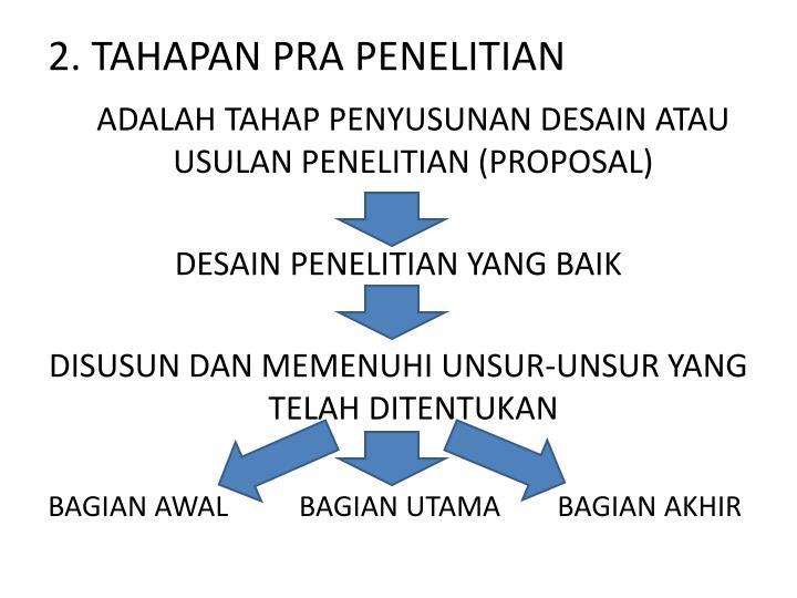 2. TAHAPAN PRA PENELITIAN