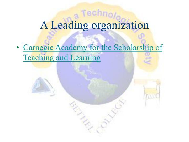 A Leading organization