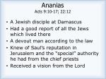 ananias acts 9 10 17 22 12
