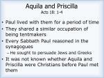 aquila and priscilla acts 18 1 4