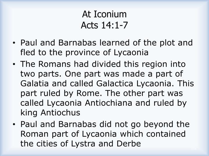 At Iconium