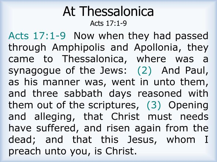 At Thessalonica