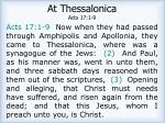at thessalonica acts 17 1 9