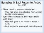 barnabas saul return to antioch acts 12 25