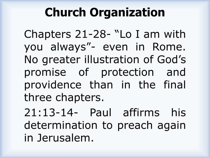 Church Organization
