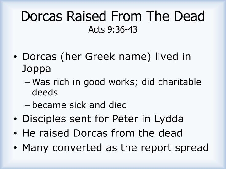 Dorcas Raised From The Dead