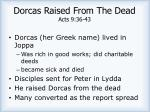 dorcas raised from the dead acts 9 36 43