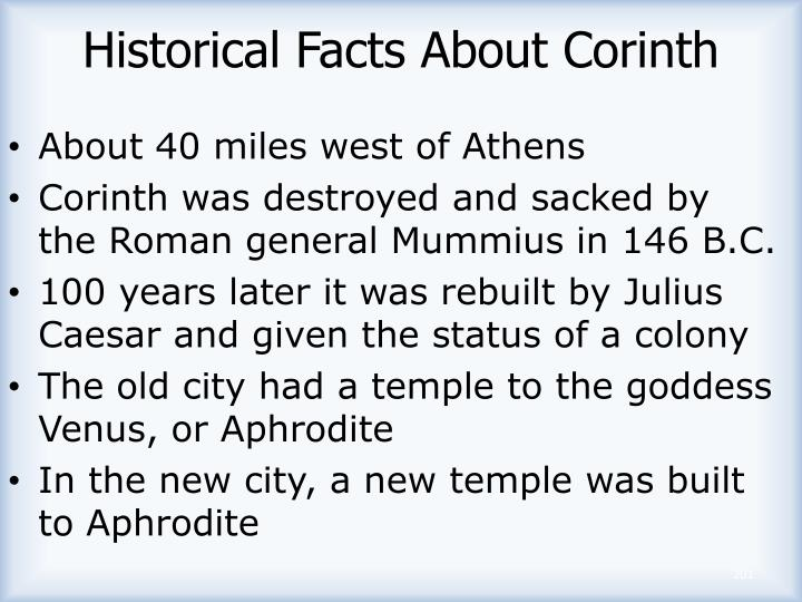 Historical Facts About Corinth
